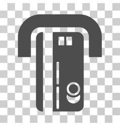 Banking machine icon vector