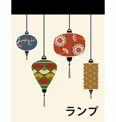 Japan lamps background vector
