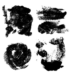 Abstract prints and stains of paint vector image