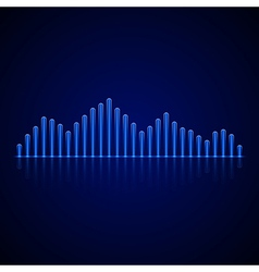 Equalizer on dark background vector
