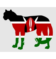 Cheetah kenya vector