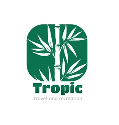Logo tropic vector