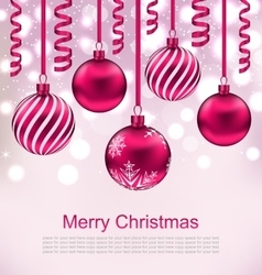 Christmas beautiful background with ball vector
