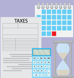 Tax day deadline vector