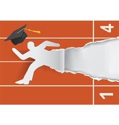 Graduate to start a career vector