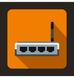 Router icon in flat style vector
