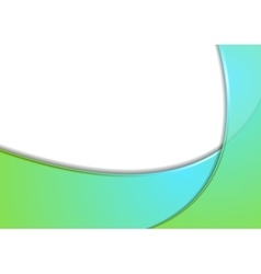 Abstract green cyan wavy corporate background vector
