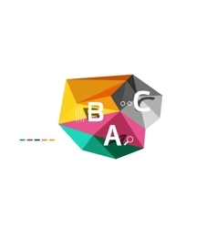 Abstract low poly infographics template vector image