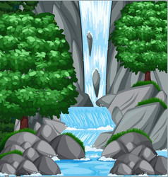 background scene with water and stream vector image vector image