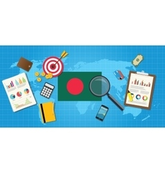 Bangladesh economy economic condition country with vector