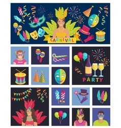 Carnival Icon Flat vector image vector image