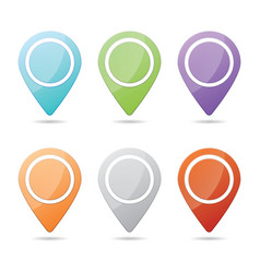 colorful checkpoint icon website set vector image vector image