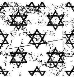 David star pattern grunge monochrome vector