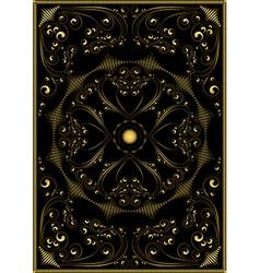 Decorative gold oriental pattern vector