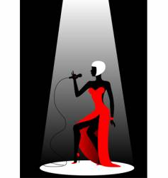 Diva on stage vector