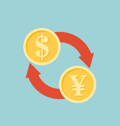exchange money sign icon vector image