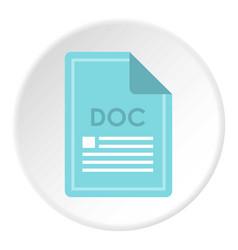 File doc icon circle vector