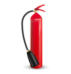 Fire extinguisher 3d realistic red fire vector