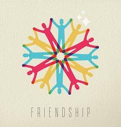 Friendship concept diversity people color design vector