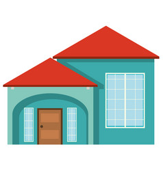 green house with red roof vector image