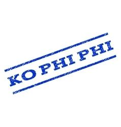 Ko phi phi watermark stamp vector
