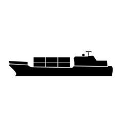 Merchant ship vector