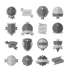 Modern flat design badge icon vector image vector image