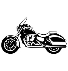 Motorcycle retro bike vector