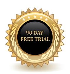 Ninety Day Free Trail vector image