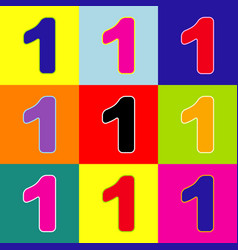 Number 1 sign design template element pop vector