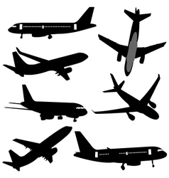 plane silhouettes vector image