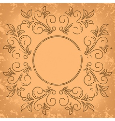 square old card - vintage background vector image vector image