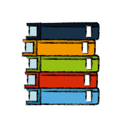 Stack books library literature learning vector