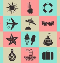 Summer icons collection vector image vector image