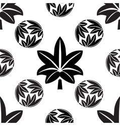 The stylized seamless maple leaves Japanese vector image vector image