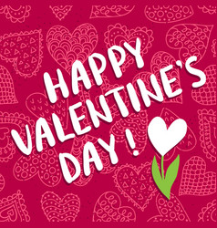 Valentine s day greeting card vector