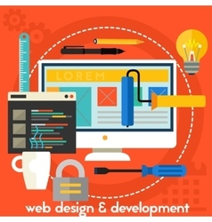 Webdesign and development concept vector