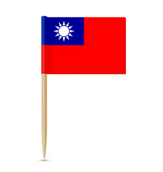 Republic of china flag toothpick vector