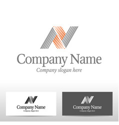 abstract logo design letter n vector image