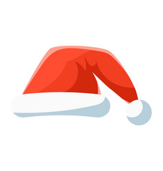 Red santa hat christmas symbol vector