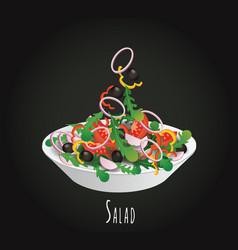 Vegetable salad vector