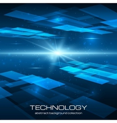 Abstract yellow technology background vector