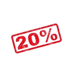 20 percent text rubber stamp vector