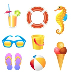 Beach set 2 vector