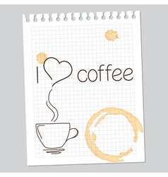 I love coffee vector