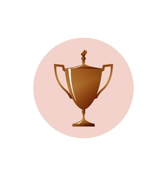 Icon cup of winnericon bronzed trophy cup vector