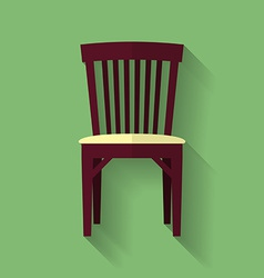 Icon of chair flat style vector