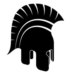 Ancient helmet black white vector