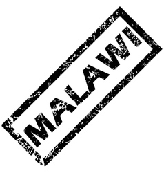 Malawi rubber stamp vector