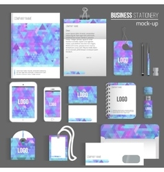 Triangle blank corporate identity set of vector